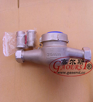 DN25, wheel water meter DN25, corps en acier inoxydable GB/T17611-1998, OIML R49:2006